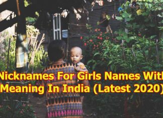 Nicknames For Girls Names With Meaning In India (Latest 2020)