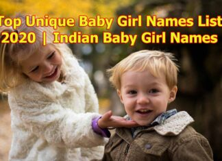 Top Unique Baby Girl Names List 2020 | Indian Baby Girl Names